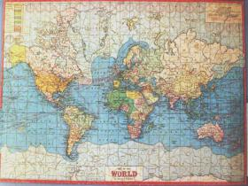 Map puzzles bob armstrongs old jigsaw puzzles the wide world on mercators projection showing mandates gumiabroncs Choice Image