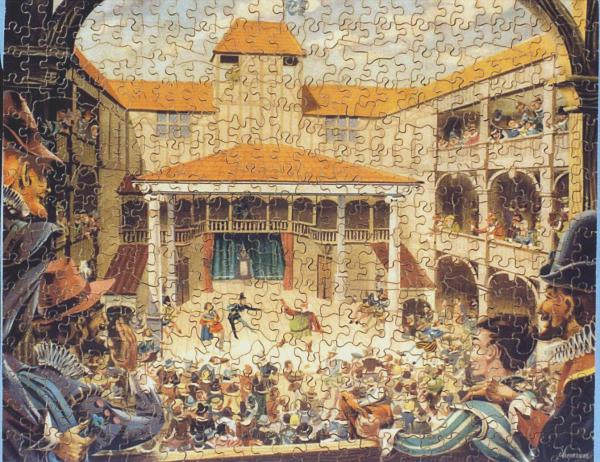 Jigsaw Puzzle Maker >> General: An Elizabethan Theatre (Period) | Bob Armstrong's Old Jigsaw Puzzles